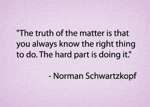 Norman Schwarzkopf quote